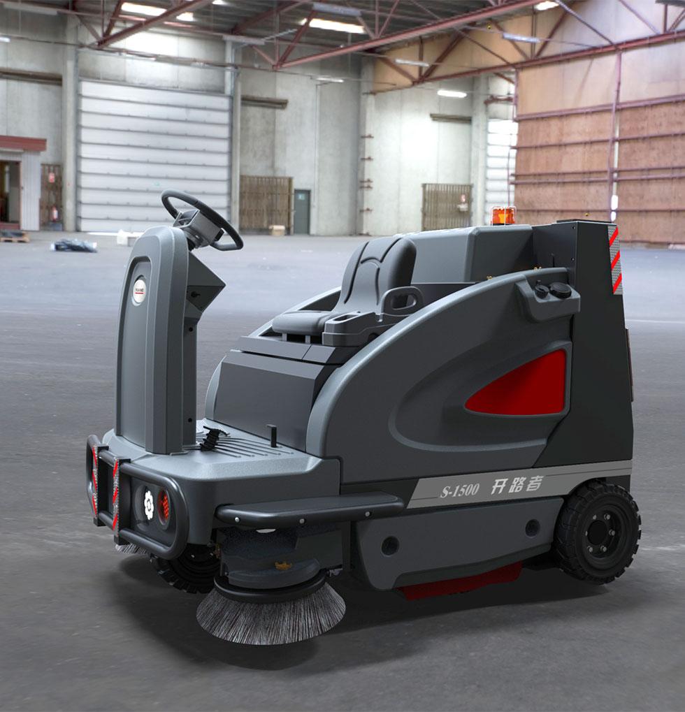 高美智慧型驾驶式扫地车_开路者驾驶式万博电脑网页版登录S-1500